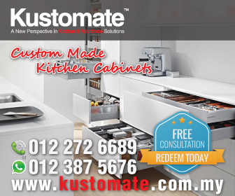 Kustomate Custom Made Built-In Kitchen Cabinets & Wardrobe Cabinets Design | Kustomate Cabinet Malaysia